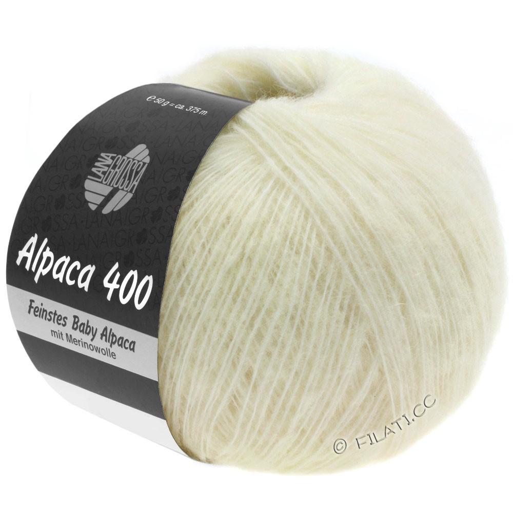 Lana Grossa ALPACA 400 | 01-raw white