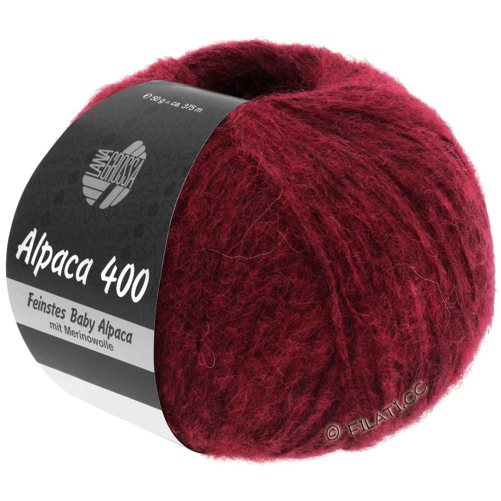 Lana Grossa ALPACA 400 | 09-wine red mottled