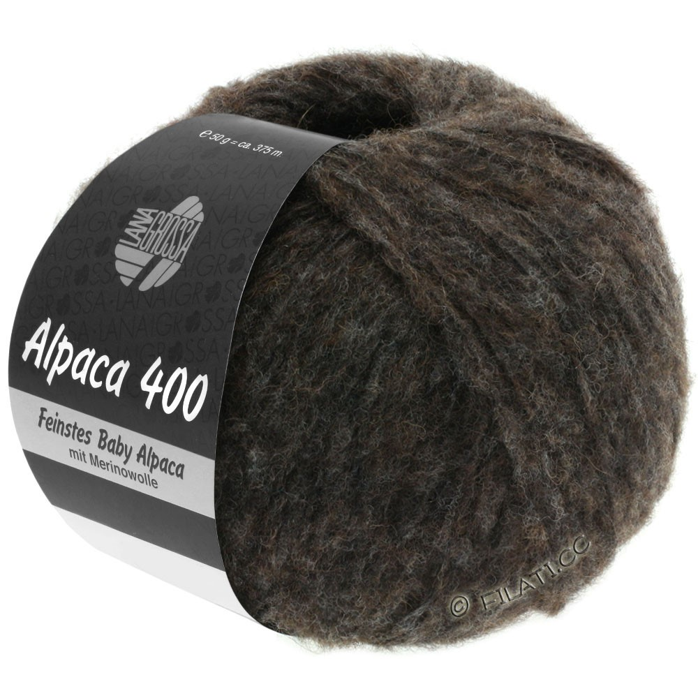 Lana Grossa ALPACA 400 | 13-black brown