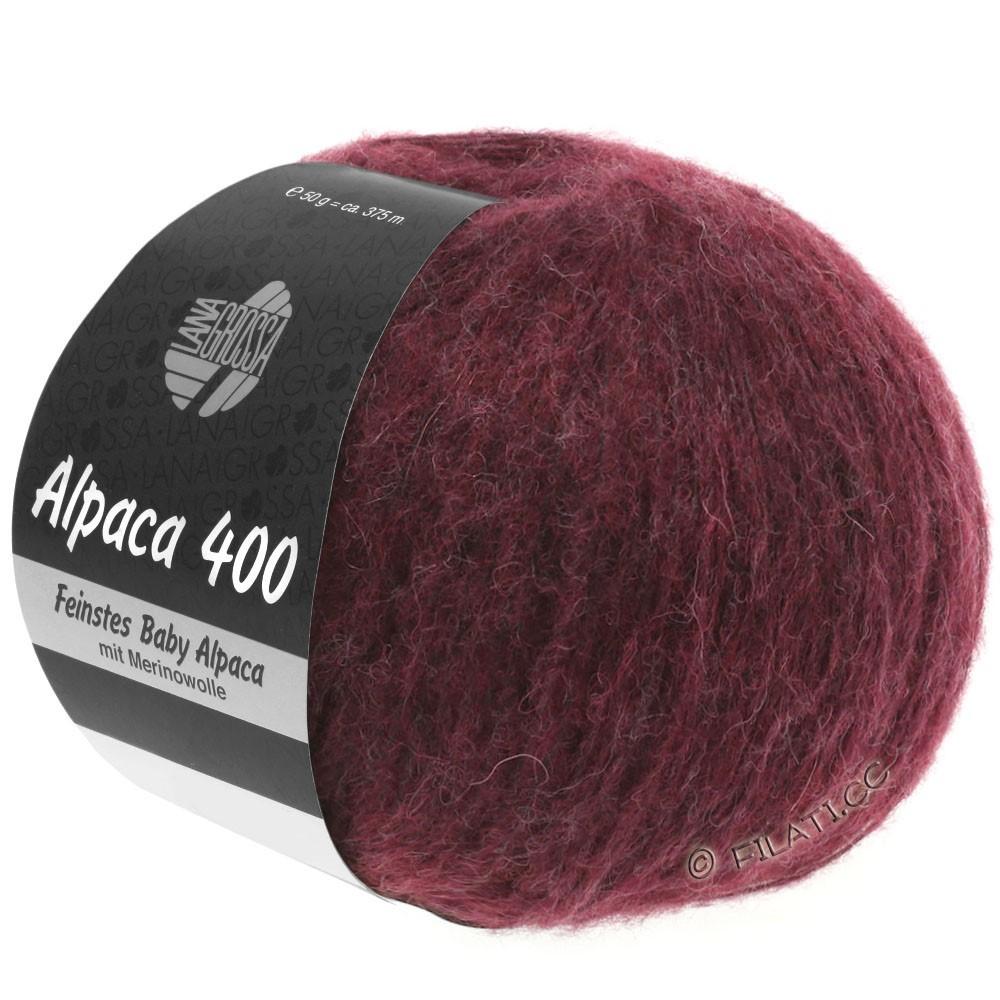 Lana Grossa ALPACA 400 | 16-black red