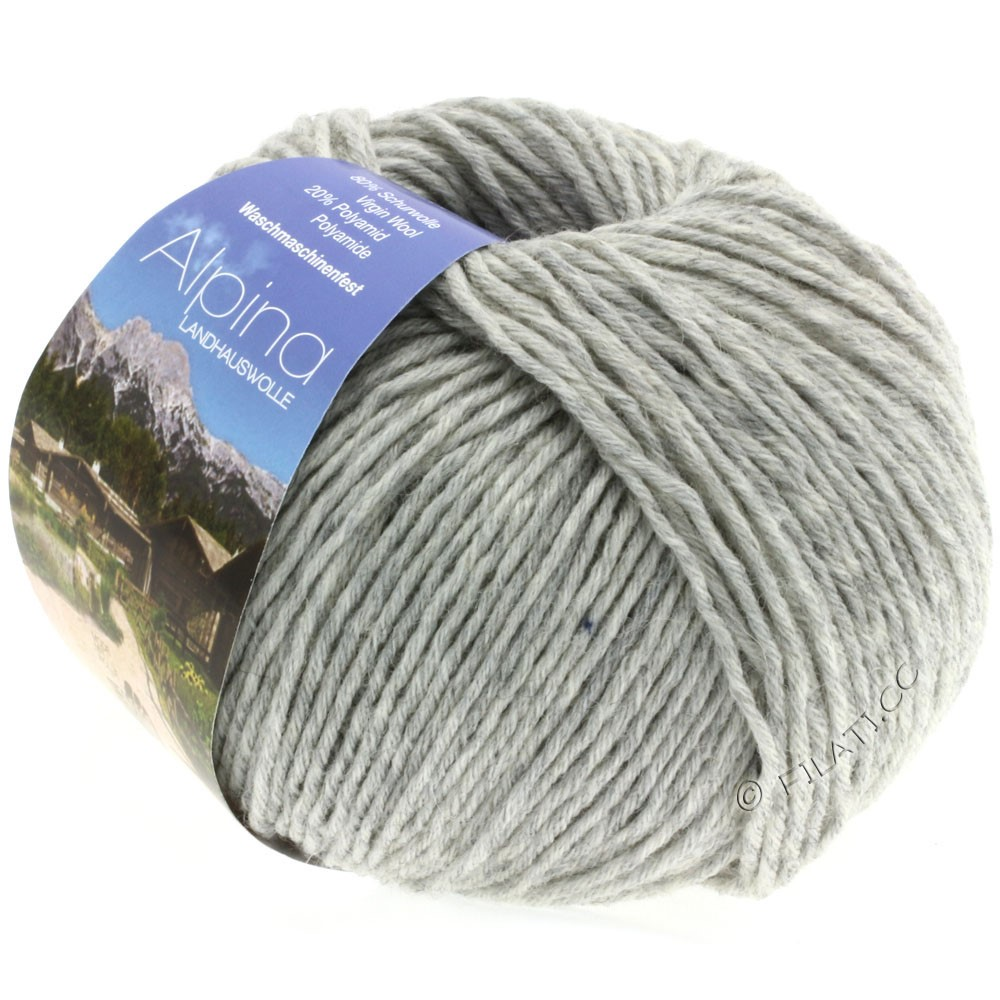 Lana Grossa ALPINA Landhauswolle | 04-light gray mottled