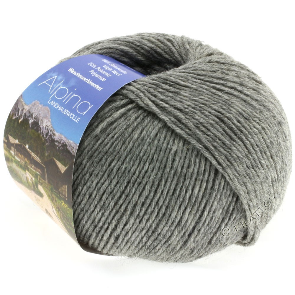 Lana Grossa ALPINA Landhauswolle | 05-gray mottled