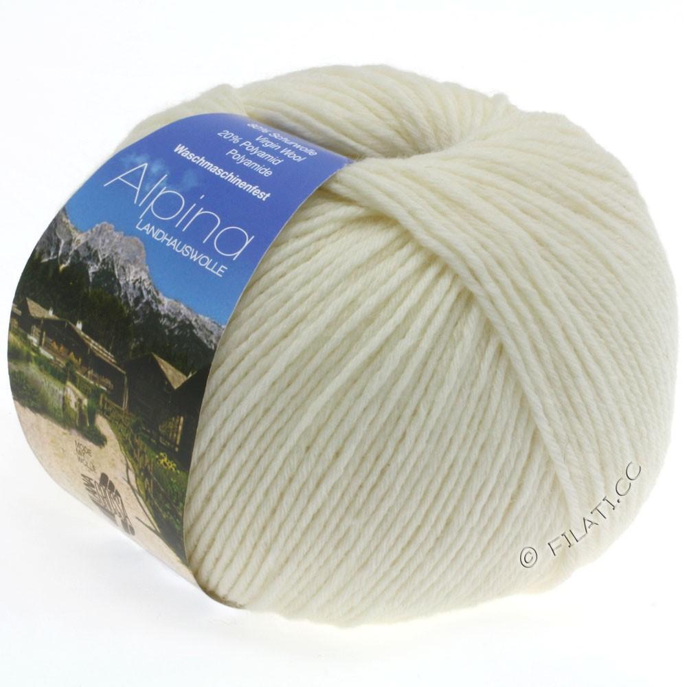 Lana Grossa ALPINA Landhauswolle | 11-white