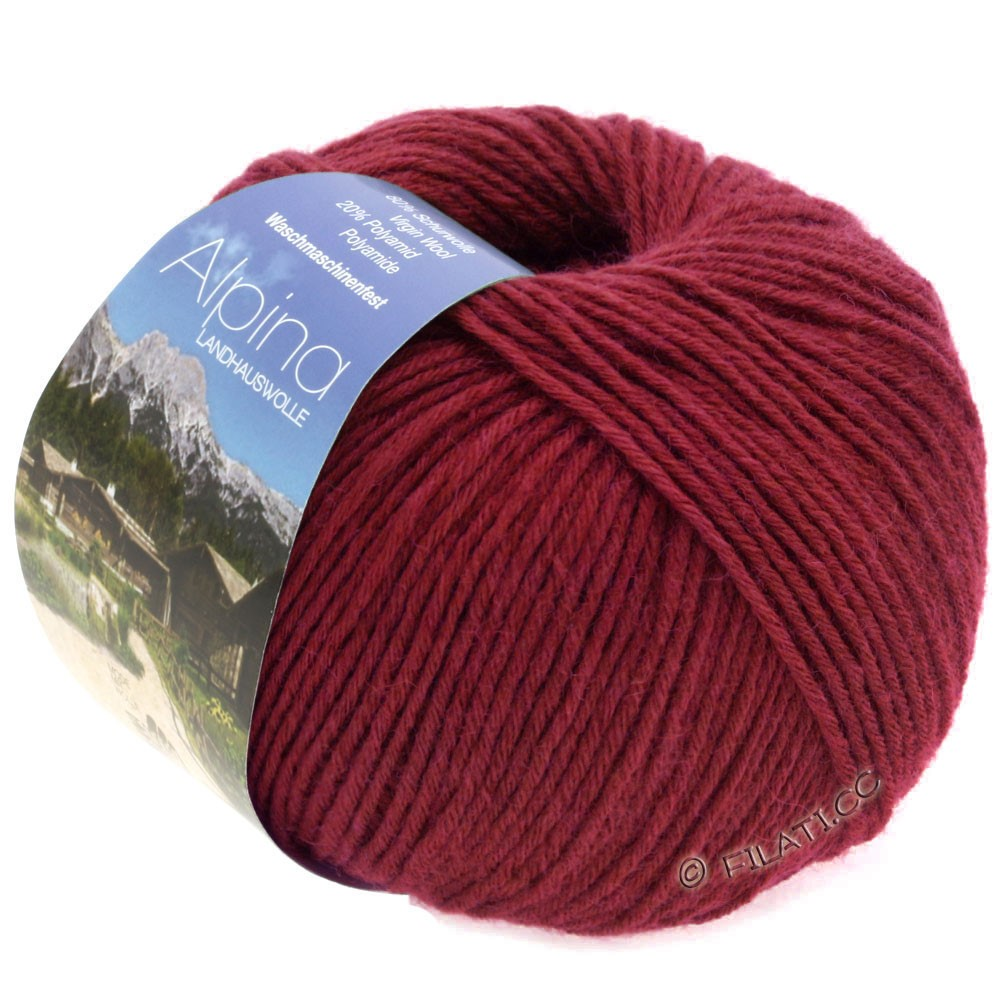 Lana Grossa ALPINA Landhauswolle | 33-wine red