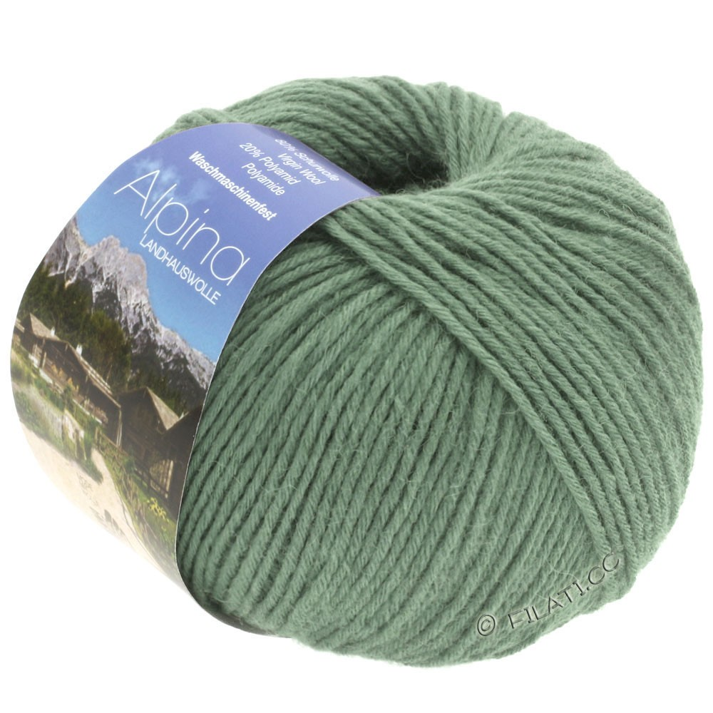 Lana Grossa ALPINA Landhauswolle | 38-gray green