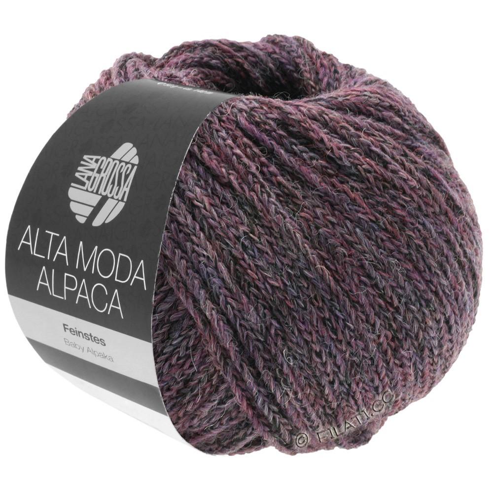 Lana Grossa ALTA MODA ALPACA | 20-blackberry/gray mottled