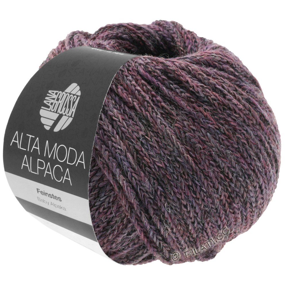 Lana Grossa ALTA MODA ALPACA | 20-blackberry/gray mottled