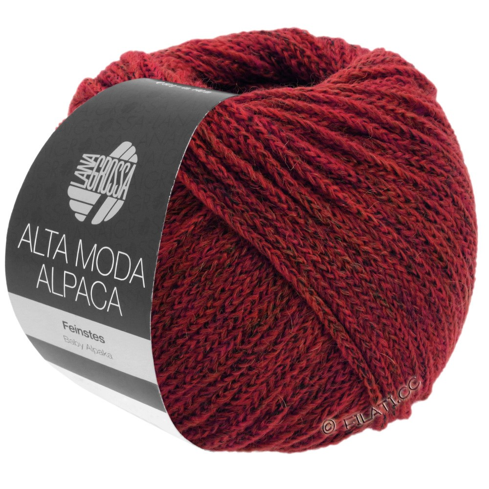 Lana Grossa ALTA MODA ALPACA | 40-dark red mottled