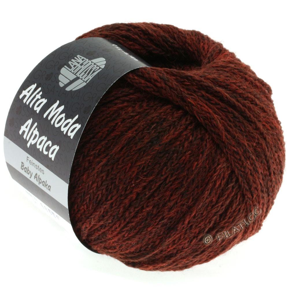 Lana Grossa ALTA MODA ALPACA | 41-red brown mottled