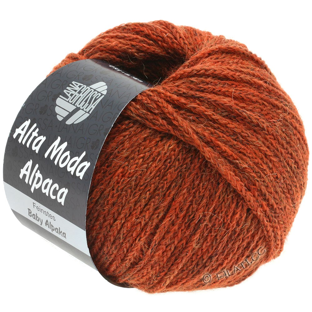 Lana Grossa ALTA MODA ALPACA | 51-red brown mottled