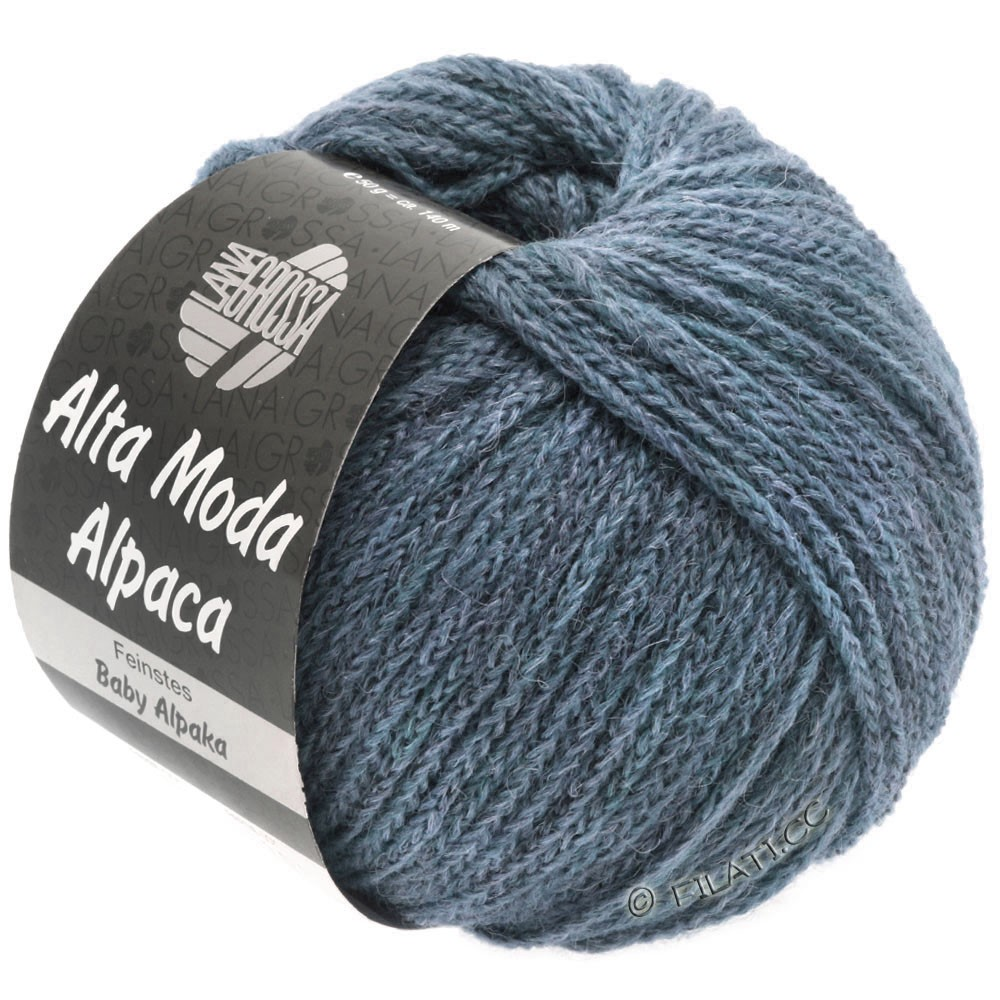 Lana Grossa ALTA MODA ALPACA | 53-jeans mottled