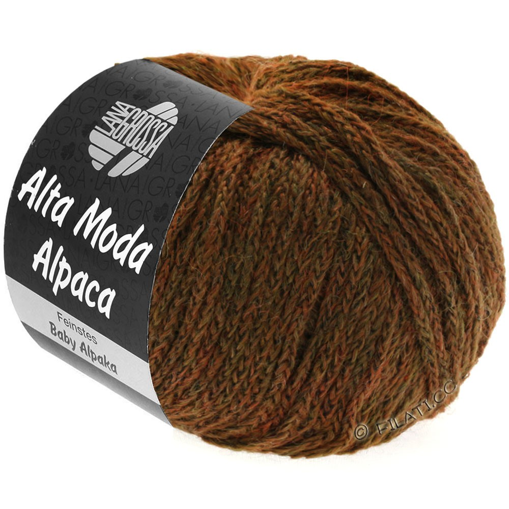 Lana Grossa ALTA MODA ALPACA | 61-green brown mottled