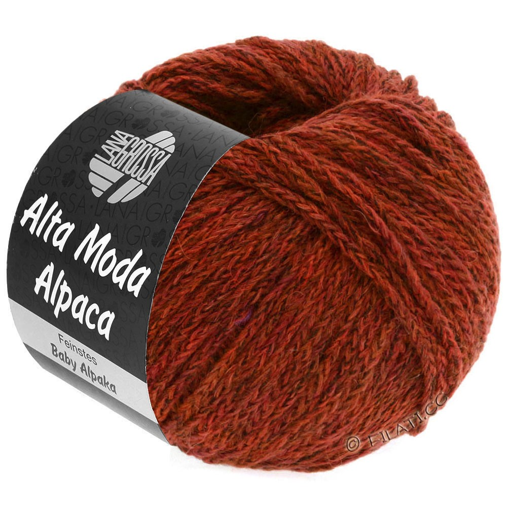 Lana Grossa ALTA MODA ALPACA | 64-brick red mottled