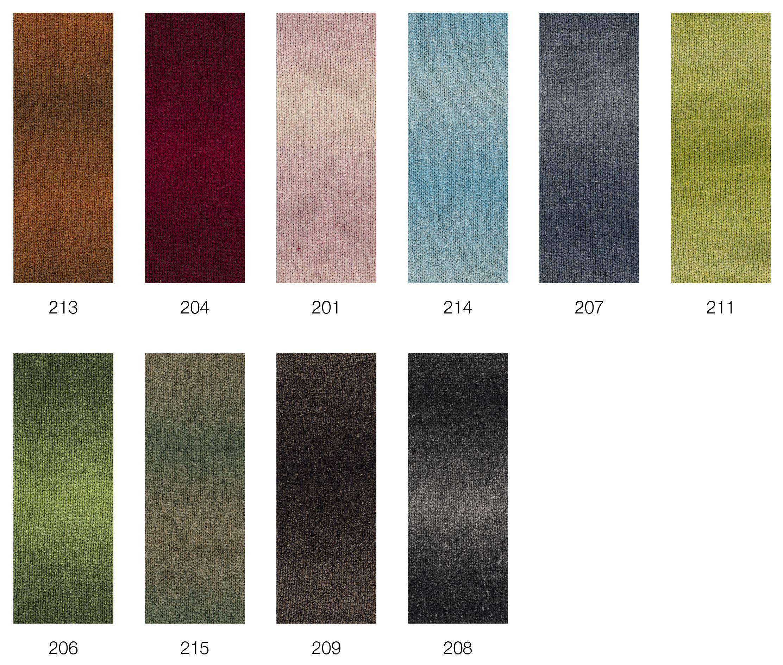 Lana creativo lana Grossa alta moda Cashmere 16 sfumato 210 marrón jaspeadas 100g