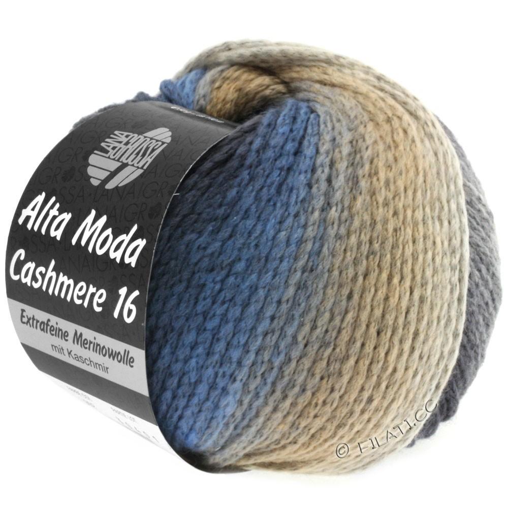 Lana Grossa ALTA MODA CASHMERE 16 Uni/Degradé | 101-jeans/light gray/dark gray/beige