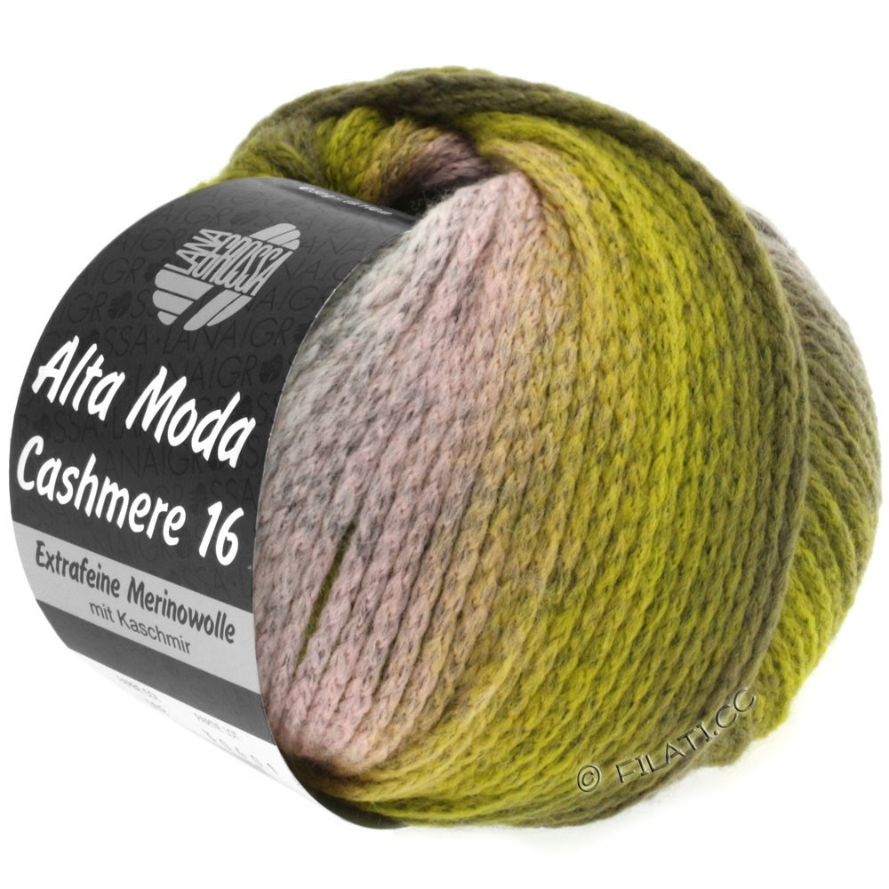 Lana Grossa ALTA MODA CASHMERE 16 Uni/Degradé | 103-rose/light gray/olive/khaki