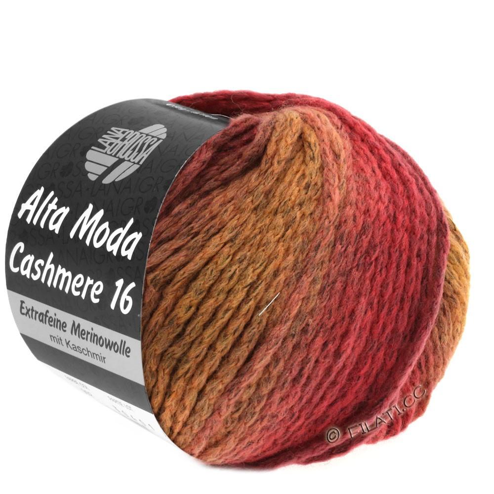 Lana Grossa ALTA MODA CASHMERE 16 Uni/Degradé | 112-pastel rose/tulipwood/dark red/burgundy