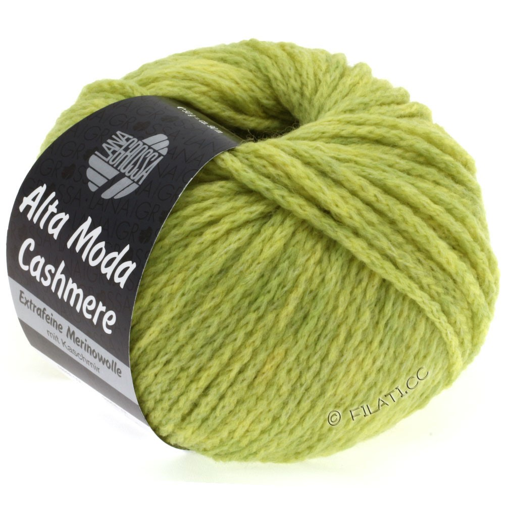 Lana Grossa ALTA MODA CASHMERE   18-yellow green mottled