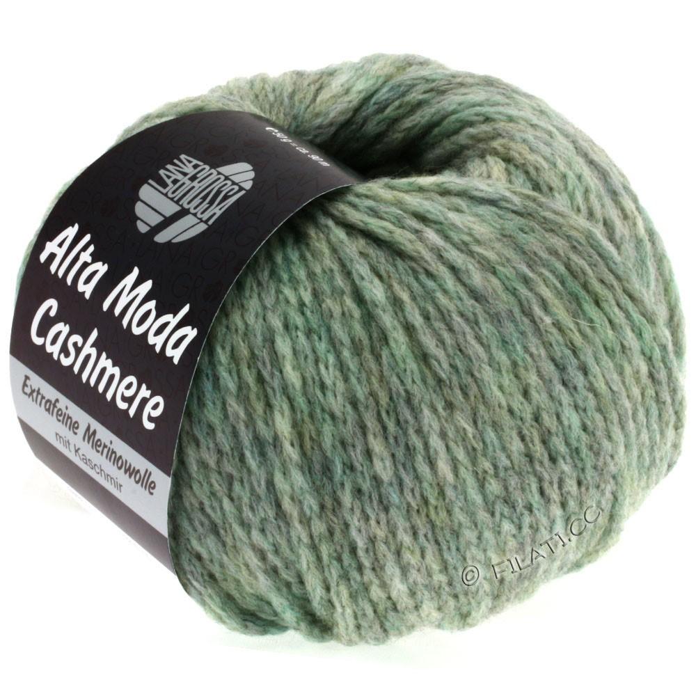 Lana Grossa ALTA MODA CASHMERE   21-mint/gray mottled