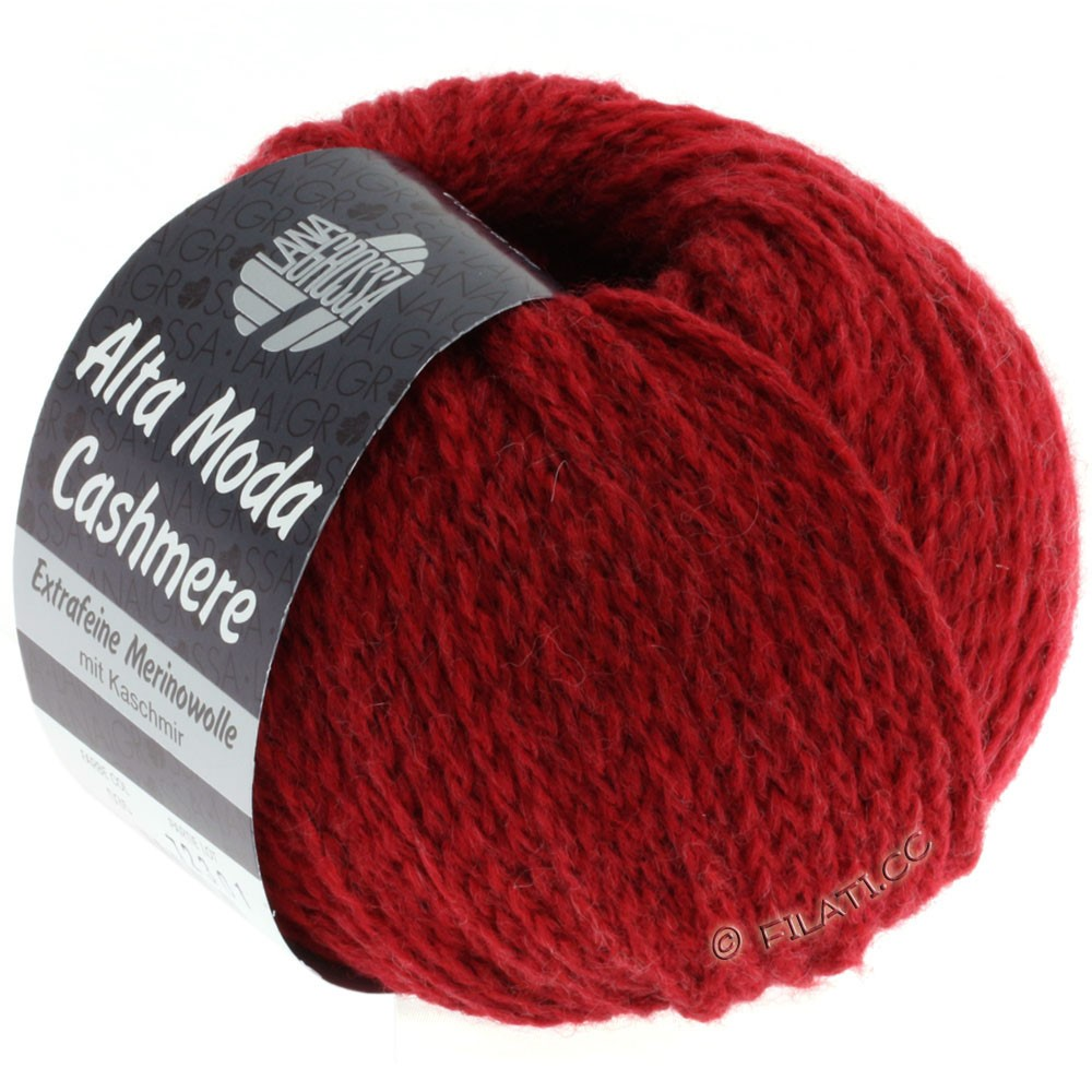 Lana Grossa ALTA MODA CASHMERE | 35-dark red mix