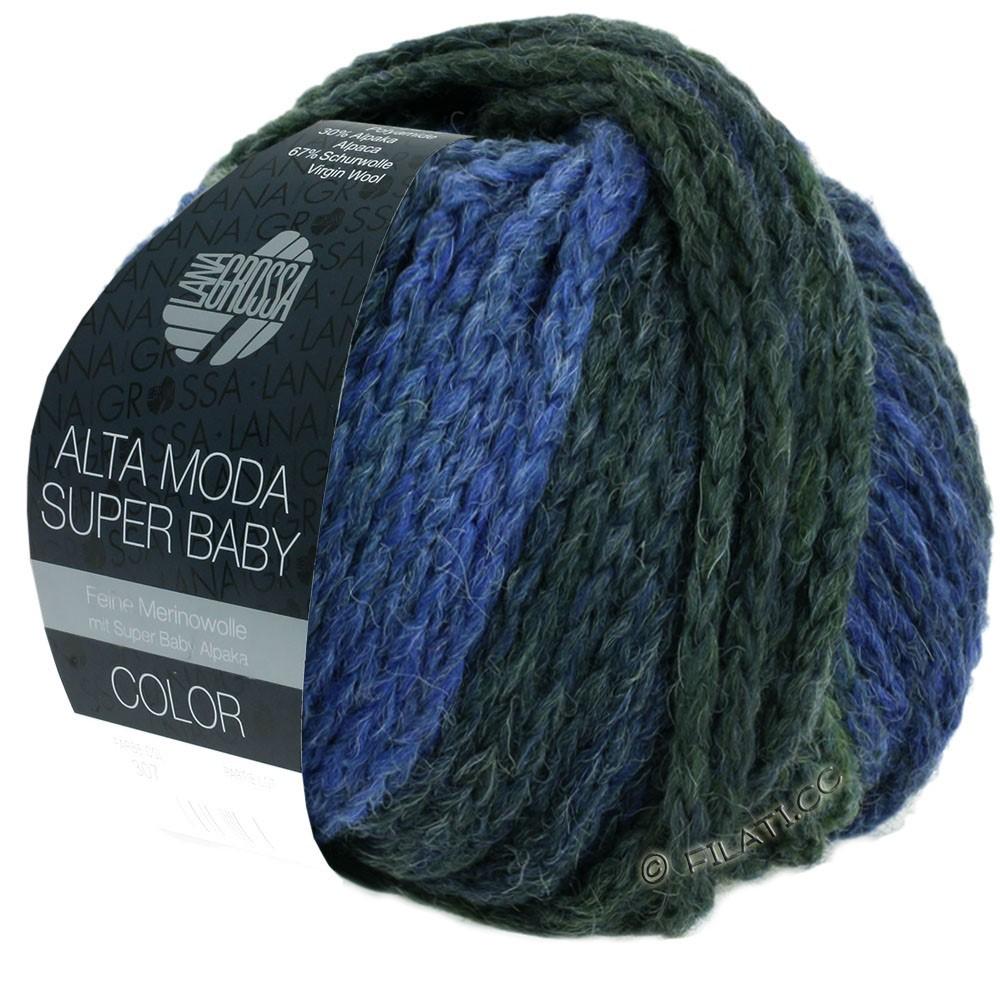Lana Grossa ALTA MODA SUPER BABY  Color | 303-light blue/blue/blue gray