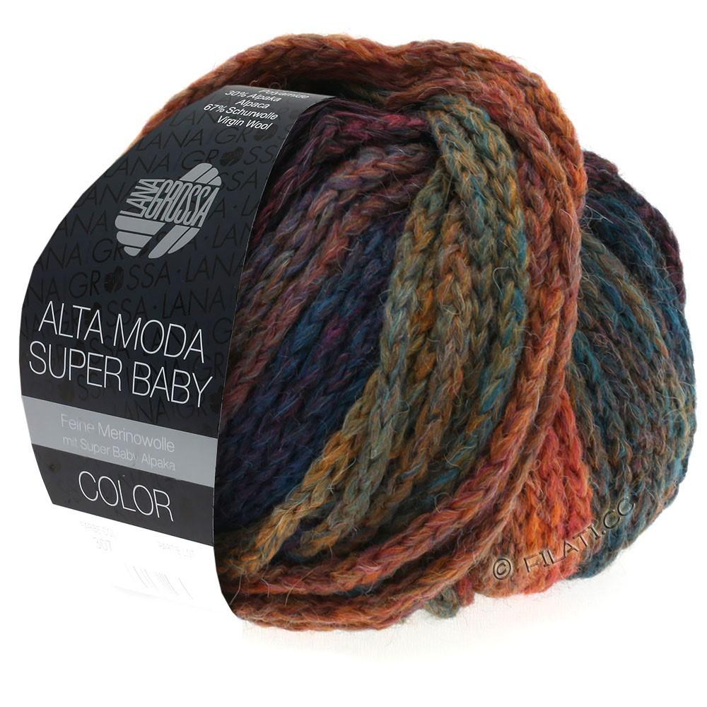 Lana Grossa ALTA MODA SUPER BABY  Color | 304-copper/mustard/petrol/dark blue/purple