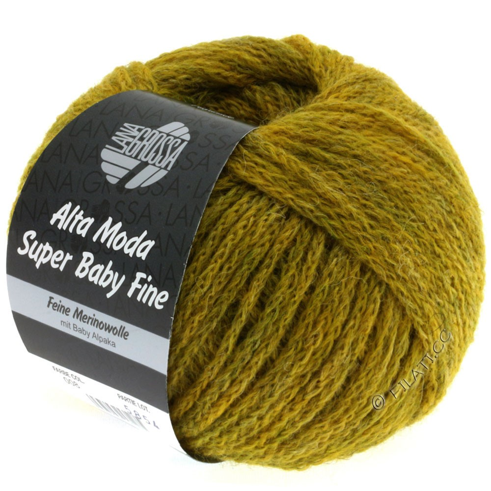 Lana Grossa ALTA MODA SUPER BABY FINE Uni | 08-mustard mottled