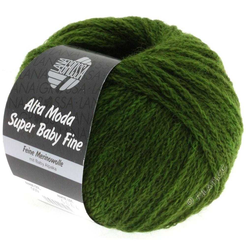 Lana Grossa ALTA MODA SUPER BABY FINE Uni | 09-olive green