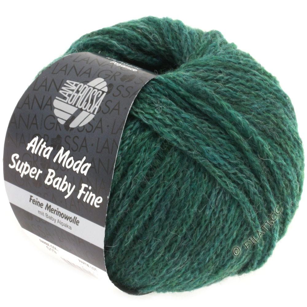 Lana Grossa ALTA MODA SUPER BABY FINE Uni | 19-bottle green mottled