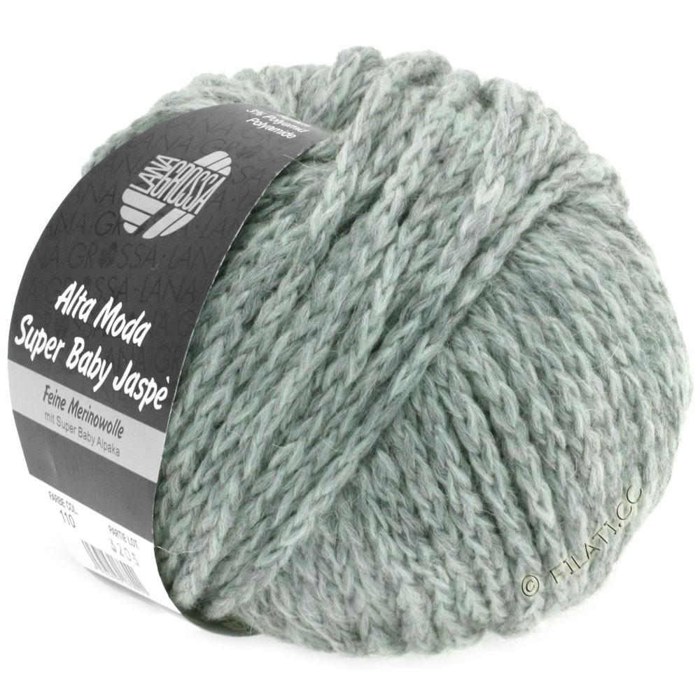Lana Grossa ALTA MODA SUPER BABY Jaspè | 110-mint/gray