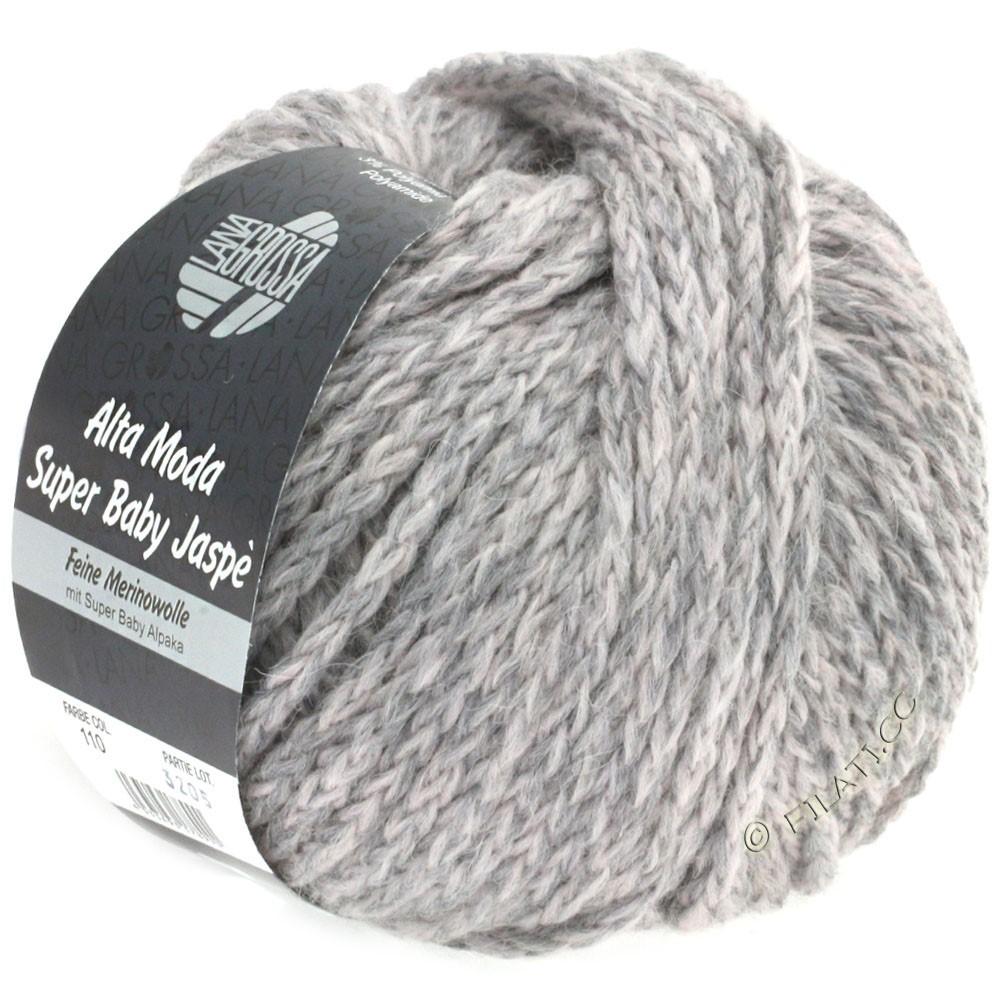 Lana Grossa ALTA MODA SUPER BABY Jaspè | 111-pale rose/gray