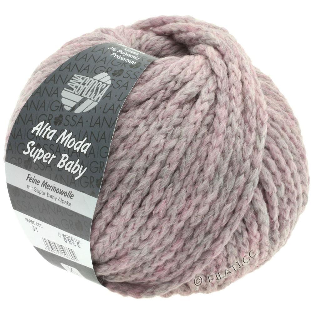 Lana Grossa ALTA MODA SUPER BABY Uni | 031-lilac gray mottled