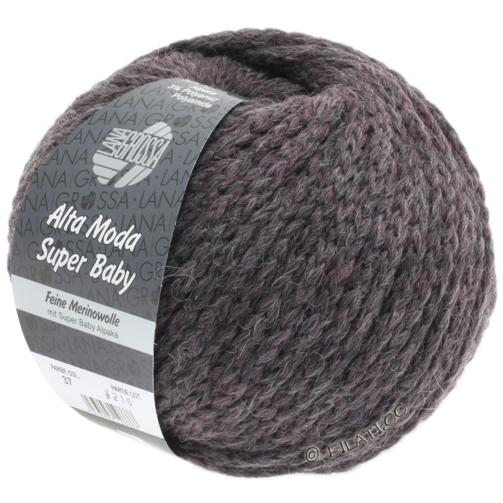 Lana Grossa ALTA MODA SUPER BABY  Uni | 037-gray purple mottled