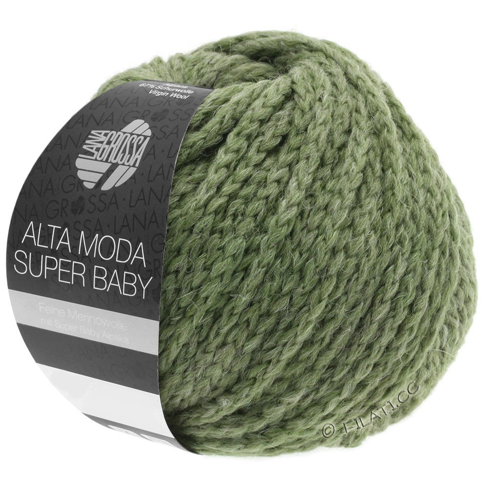 Lana Grossa ALTA MODA SUPER BABY  Uni | 044-gray green