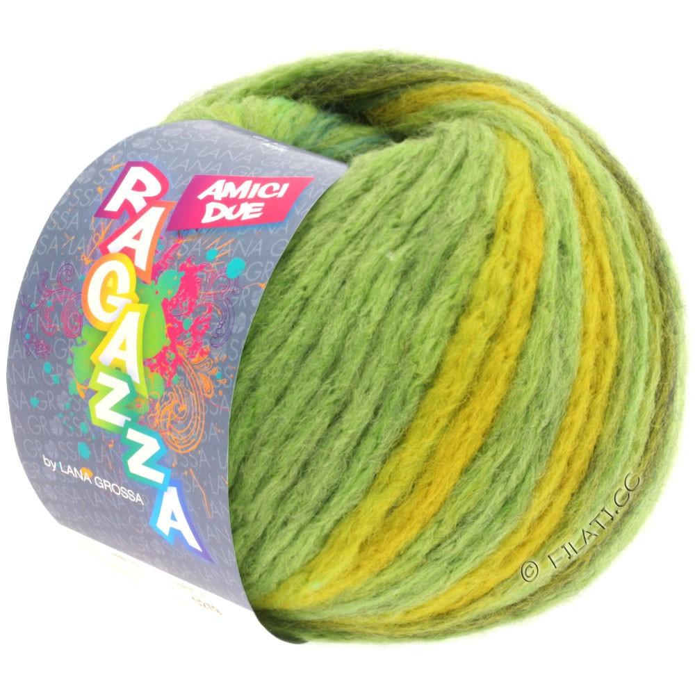 Lana Grossa AMICI DUE (Ragazza) | 101-light green/gray green