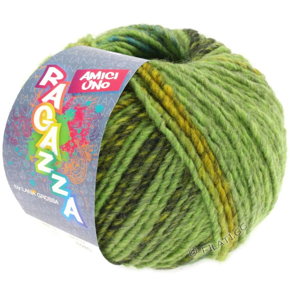 Lana Grossa AMICI UNO (Ragazza) | 301-light green/yellow green/dark green