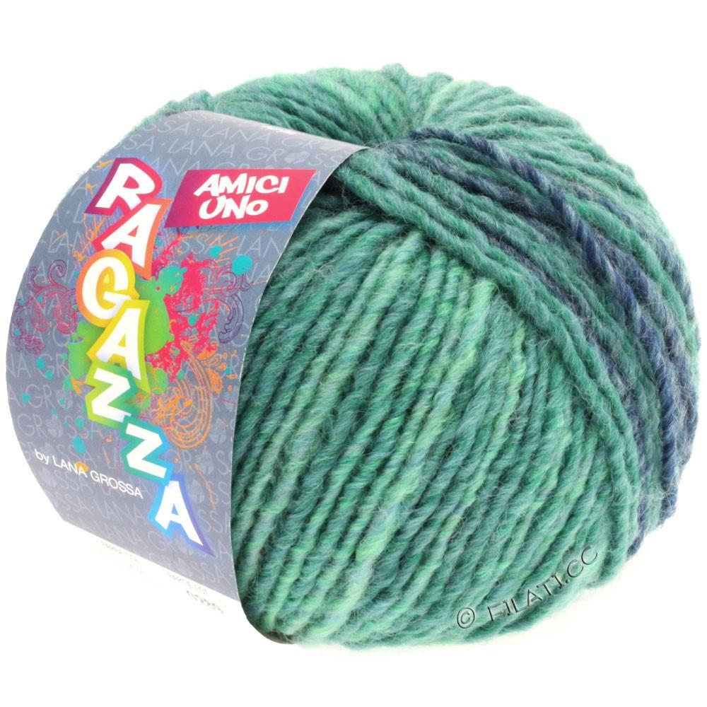 Lana Grossa AMICI UNO (Ragazza) | 302-petrol/turquoise/taupe/jeans