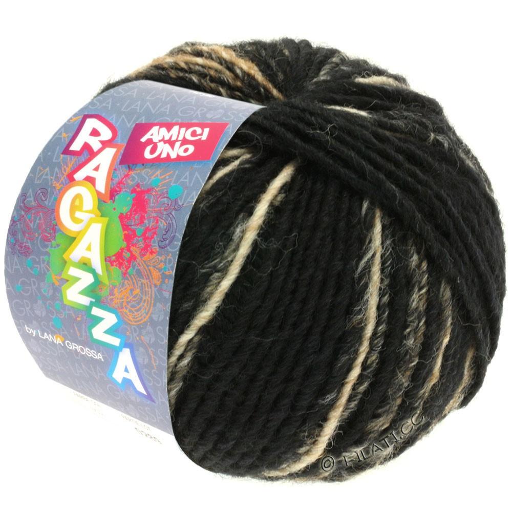 Lana Grossa AMICI UNO (Ragazza) | 306-black/gray/beige/raw white