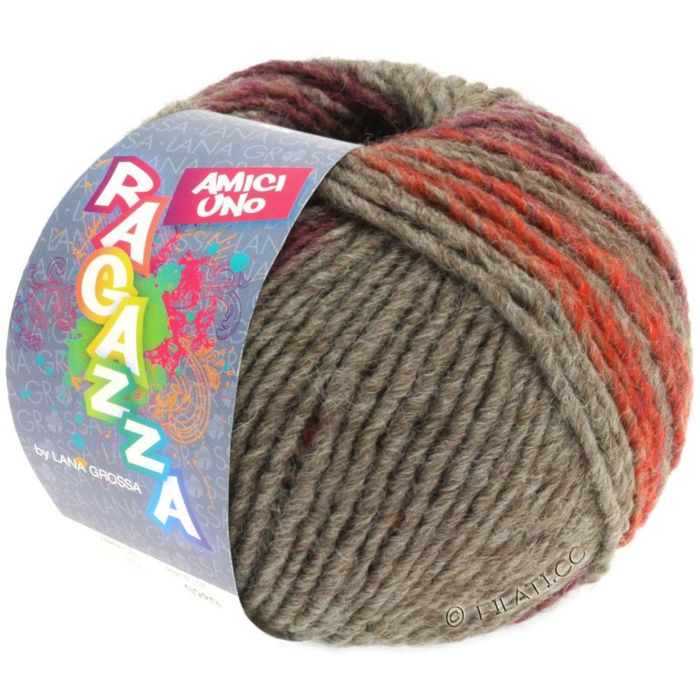 Lana Grossa AMICI UNO (Ragazza) | 307-gray brown/red brown