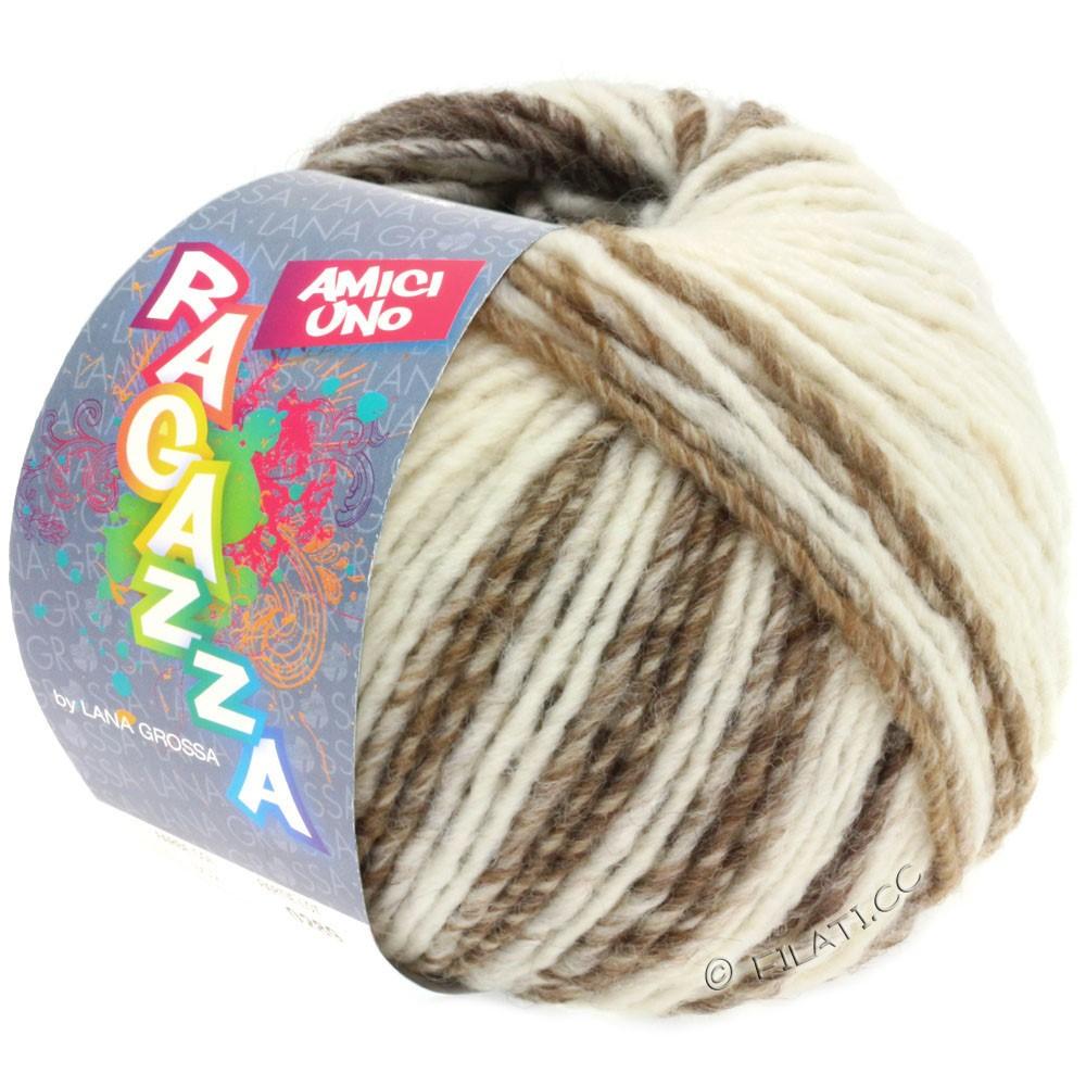 Lana Grossa AMICI UNO (Ragazza) | 308-raw white/taupe/beige