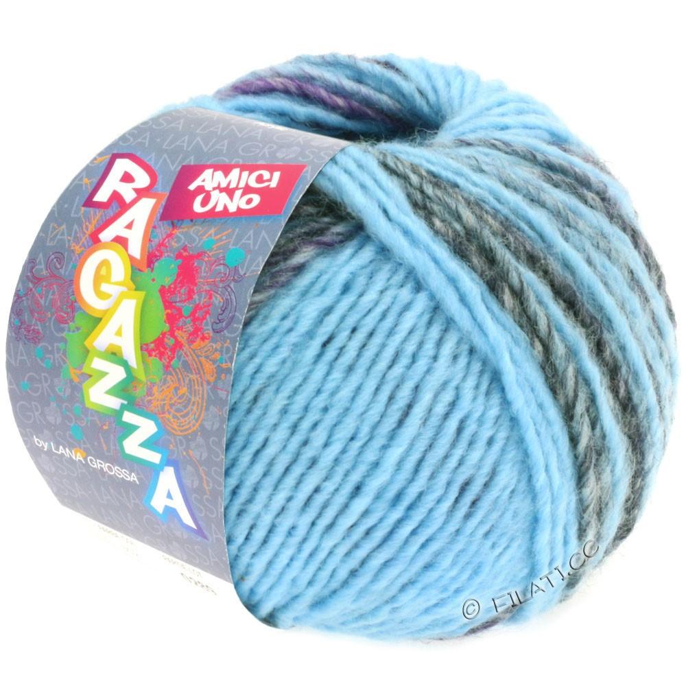 Lana Grossa AMICI UNO (Ragazza) | 310-light blue/lilac/anthracite/brown/blue
