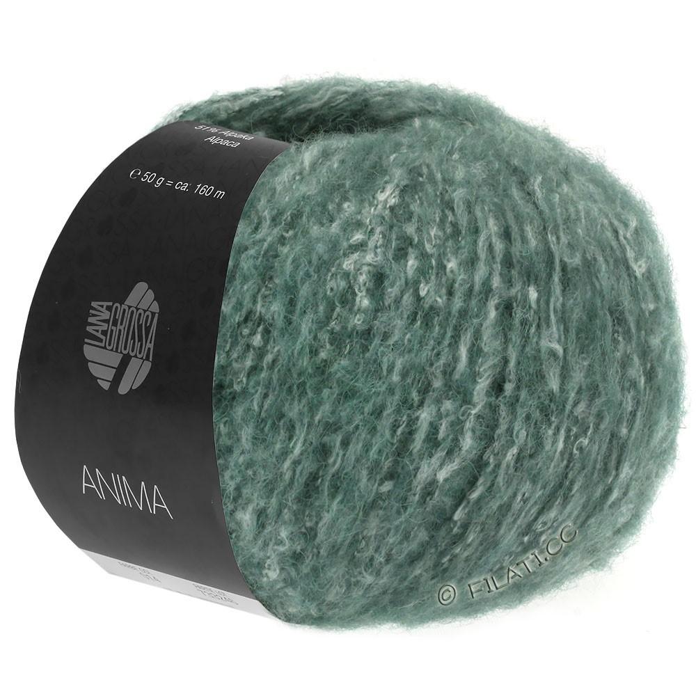 Lana Grossa ANIMA   03-dark green mottled