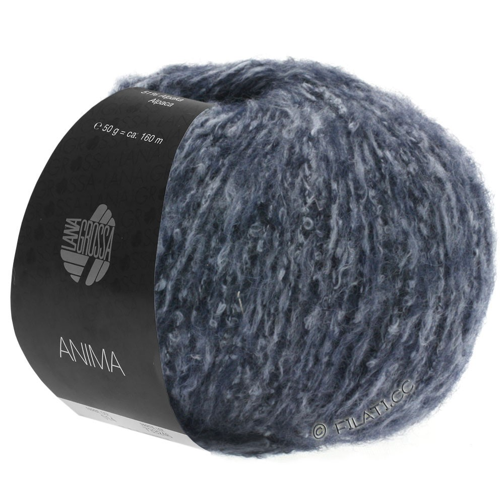 Lana Grossa ANIMA | 08-dark blue mottled
