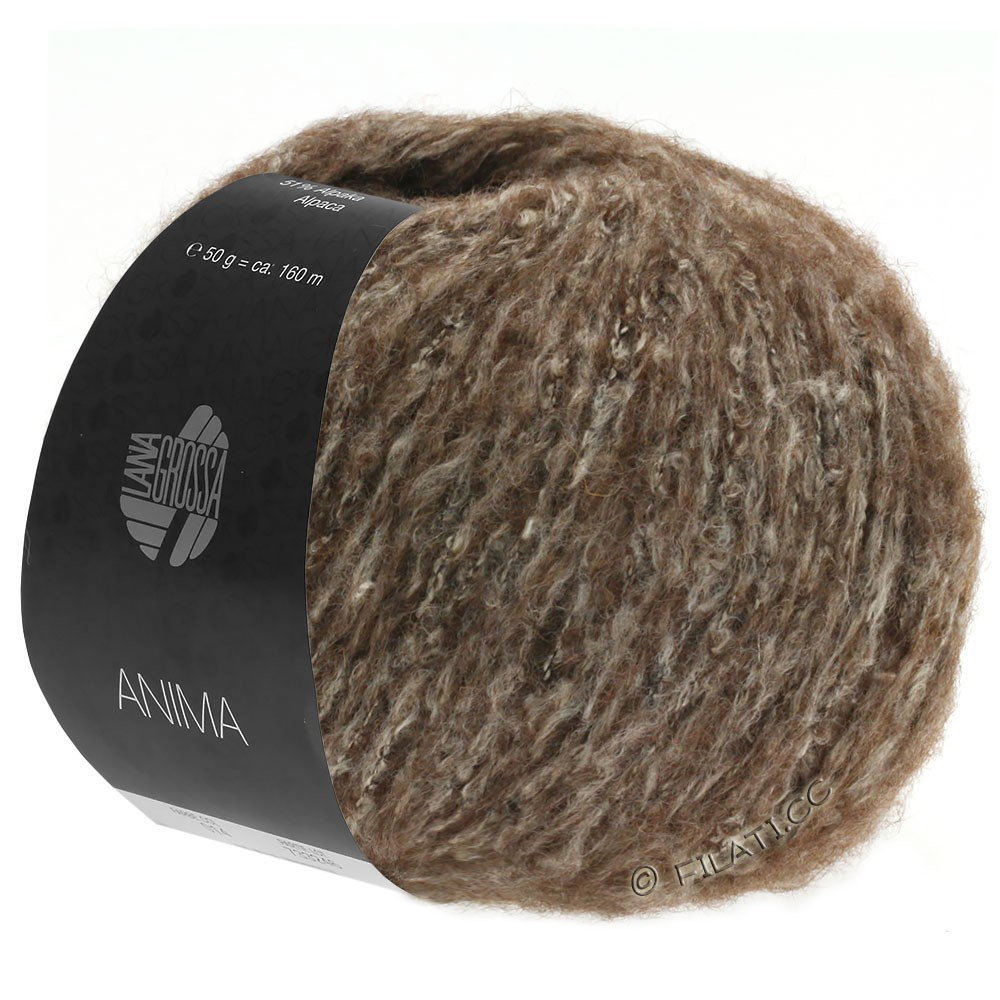 Lana Grossa ANIMA | 12-dark brown mottled