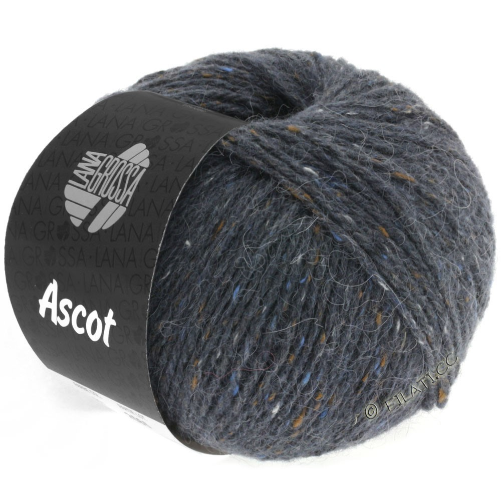 Lana Grossa ASCOT | 07-dark gray mottled