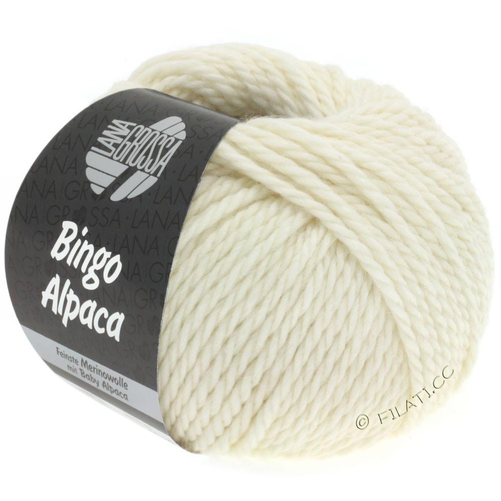 Lana Grossa BINGO ALPACA Uni | 01-raw white