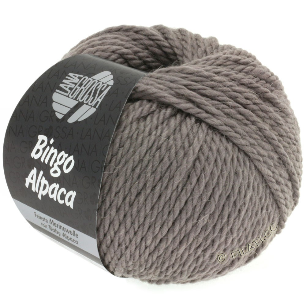 Lana Grossa BINGO ALPACA Uni | 06-gray brown