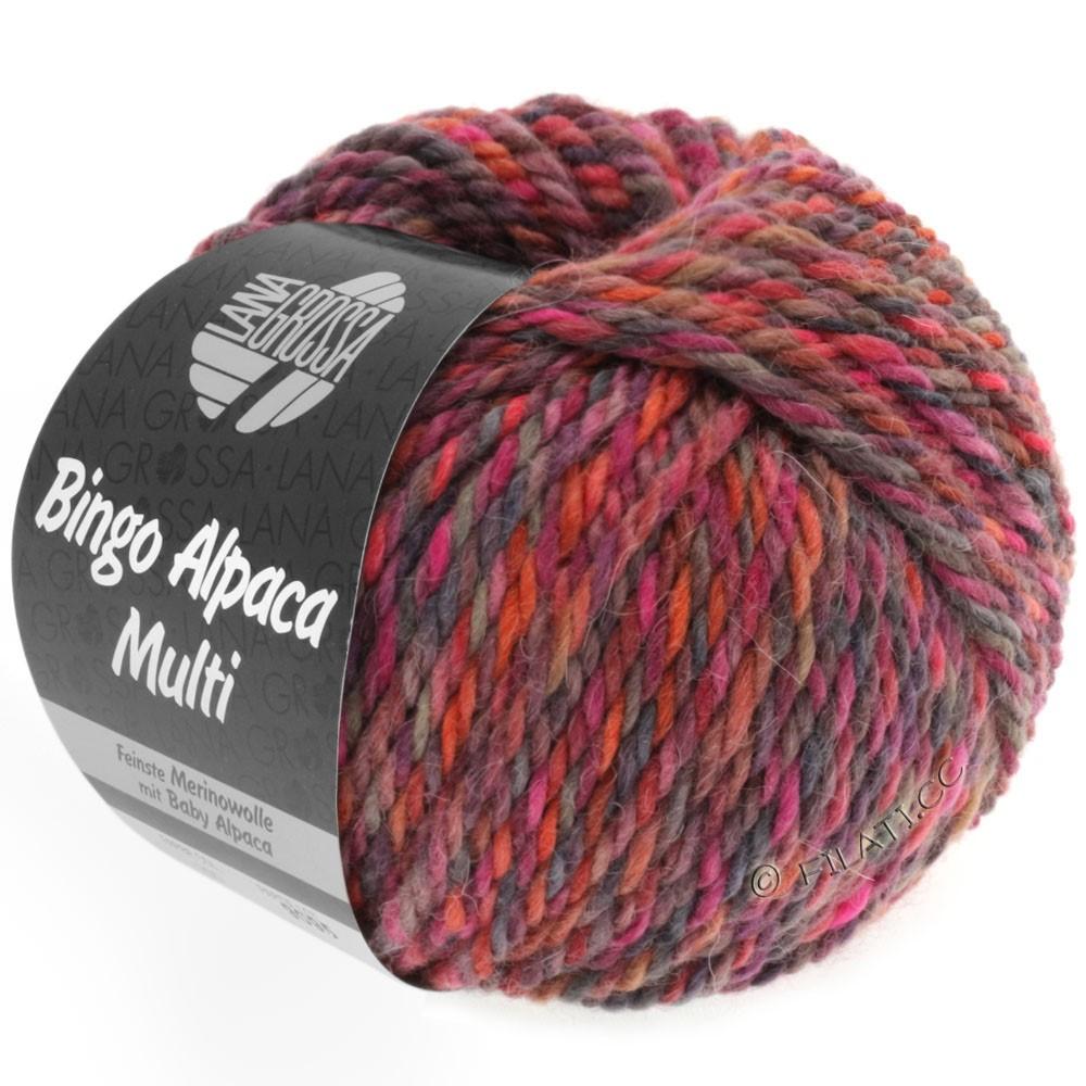 Lana Grossa BINGO ALPACA Multi | 103-raspberry/berry/taupe/rust/pink/red violet
