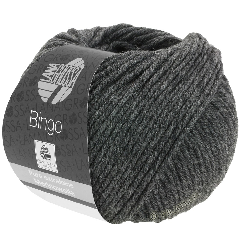 Lana Grossa BINGO  Uni/Melange/Print | 004-anthracite