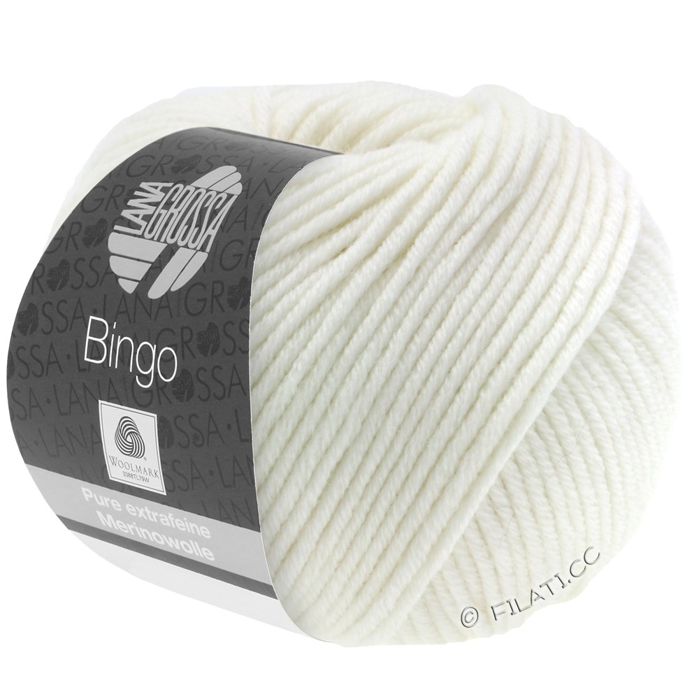 Lana Grossa BINGO  Uni/Melange/Print | 023-white